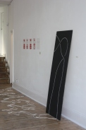 Installation view / Opened Stevedore Knot (foreground)